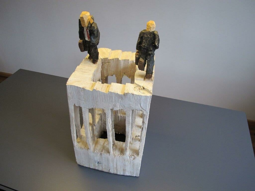 Neue Skulptur im Kulturpark von Daniel Eggli: Business Stress, 2018